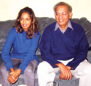 M.I.A With Father Arulaer Arulpragasam